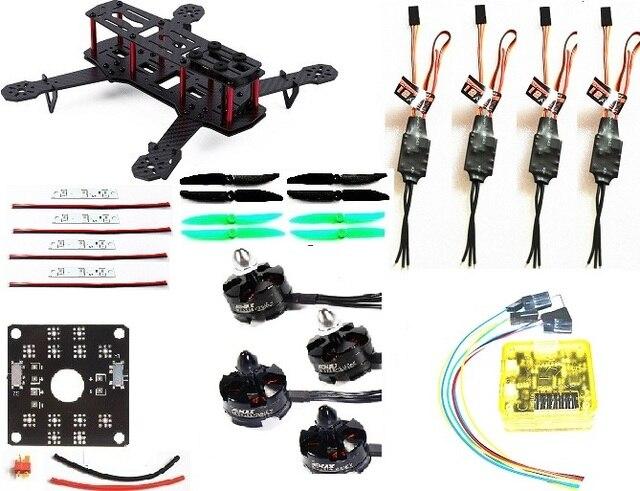 RC plane Carbon Fiber Mini QAV250 C250 Quadcopter 2204 Motor simonk 12A Esc CC3D Flight Control Prop
