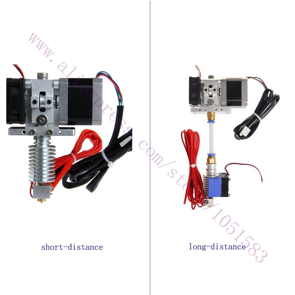 Hotend extruder Kit Mendel Delta Rostock 3d printer short&Long-distance, 1.75/3mm Filament , 0.3/0.4/0.5mm Nozzle Optional long distance calling rostock