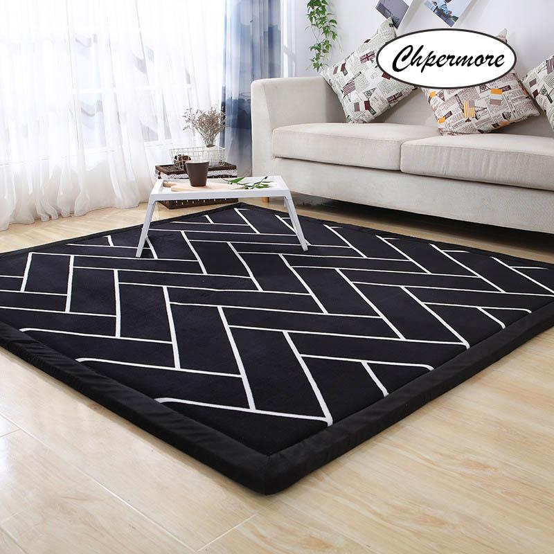 Chpermore Thicken velvet Tatami Mats Large Carpets Bedroom Carpet Japanese and Korean Living room coffee table Rug Floor Rugs Carpet     - title=