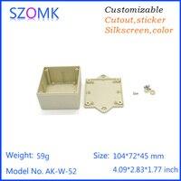 customizable electronics enclosures for pcb (10pcs) 104*72*45mm switch box distrubition enclosure electronics outlet enclosure