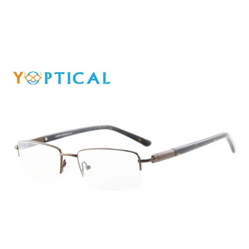 ₩Eye wonder Men\'s Half Frame Glasses Frames Designer Optical Frame ...