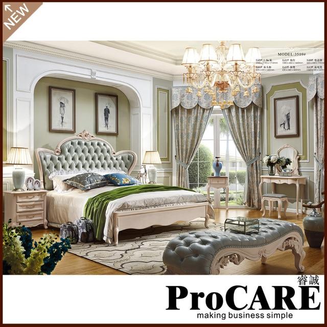 Vendita calda di cuoio reale letto matrimoniale confortevole mobili ...