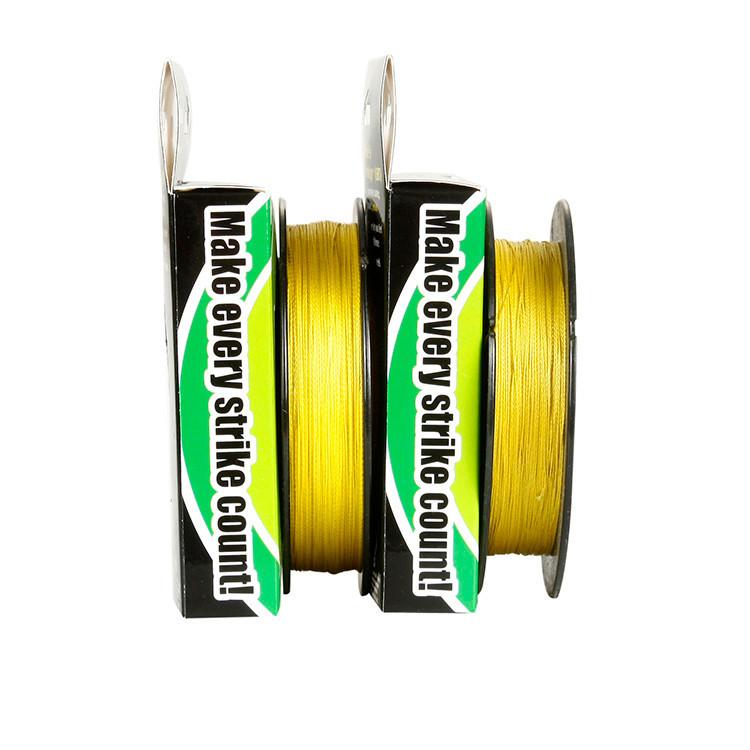 6lb10lb15lb20lb30lb40lb50lb60lb80lb100lb 100yds желтый колоре-детские плетёный для рыбалки линия