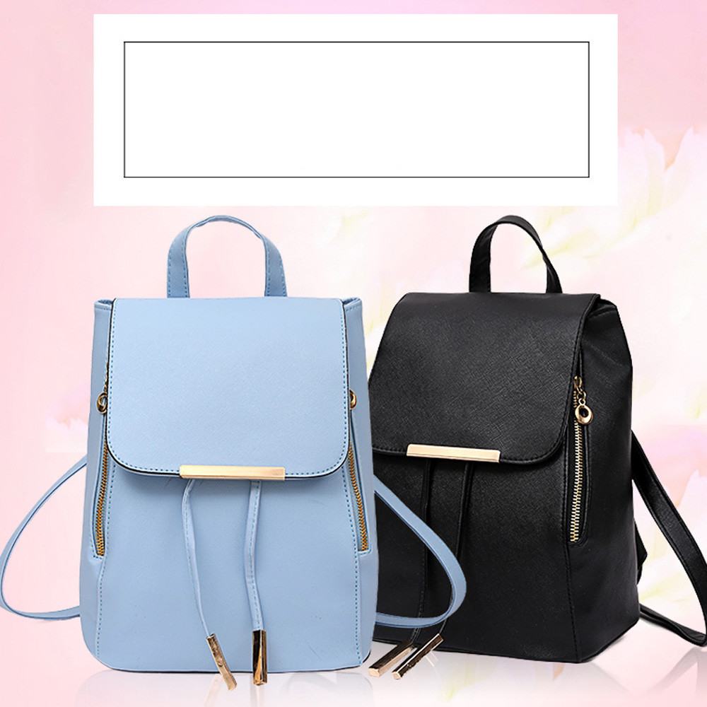 3 Colors 2Pcs/Set Luxury Women Backpack With Purse Bag PU Leather Backpack Women School Bags For Girls 0927