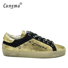 CANGMA Italian Designer Brand Sneakers Men Casual Shoes Spring Autumn Handmade Genuine Leather Golden Bass Breathable Male Shoes