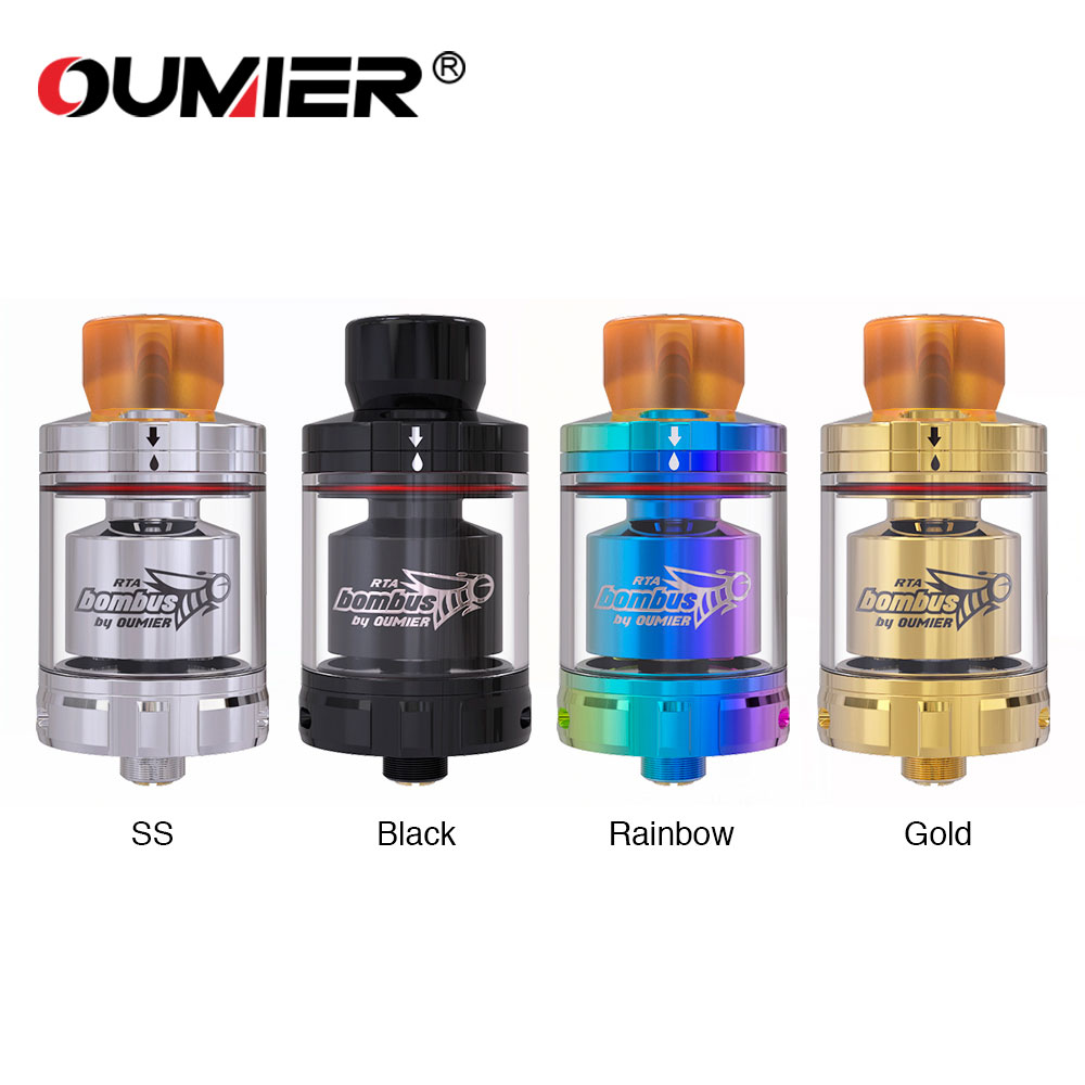New Original OUMIER BOMBUS RTA Original Electronic Cigarettes Atomizer 510 Thread Top Filling 2ml Capacity E Cigarettes Atomizer