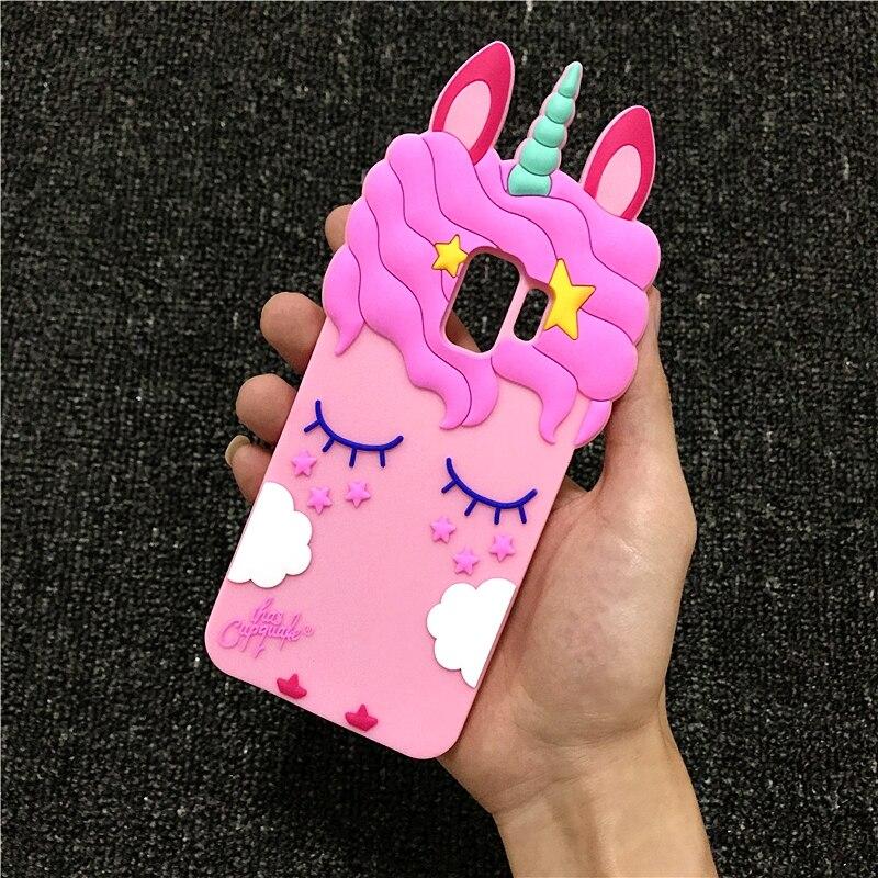 3D Cartoon Liquid Unicorn Horse Soft Silicone Case for Samsung Galaxy J1 Ace J2 J3 J5 J7 Prime Pro 2016 2017 J4 J6 2018 Neo