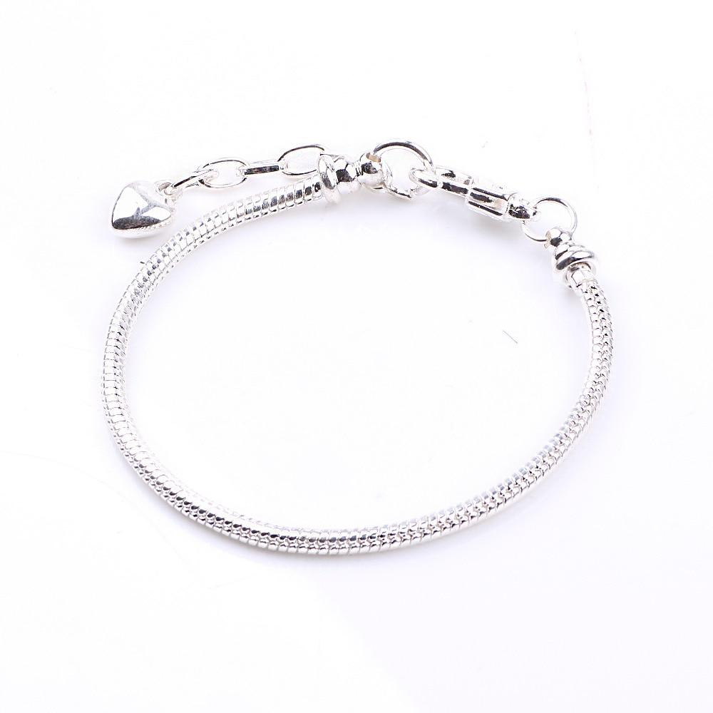 Dodocharms Antik Silber Farbe Druckknopf Schlangenkette Charm Fit - Modeschmuck - Foto 4