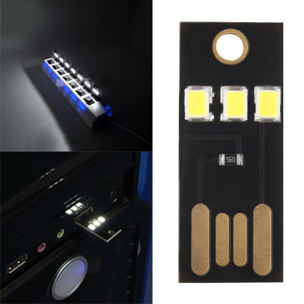 Mini led usb lava lâmpada do computador banco de potência livro noite luz novidade lâmpada toque dedo ajustar brilho notebook leitura luz