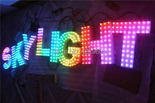Factory Outlet Stainless Steel Pixel RGB LED Letter,Dot Matrix Letter, Lattice Letters