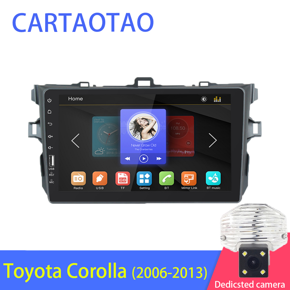 2DIN car radio multimedia video player supports Android mirror link for Toyota Corolla E140 150 2006