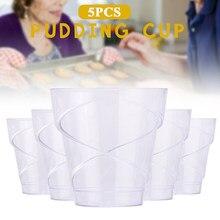 Десертные одноразовые стаканчики пластиковая экономичная емкость для смузи мусс посуда экологические чашки для пудинга 5 шт. мороженое вечерние молочные торт