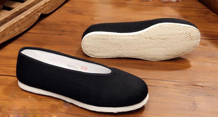 Высокое качество, Пекин, большой размер, ручная работа, многослойная подошва, винтажная китайская обувь, кунг-фу Тай Чи, боевые искусства, обувь для ушу, EU47