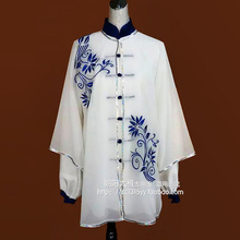 Customize Chinese Tai chi clothing taiji sword performance shawl exercise wushu uniform embroidery for women children girl kids