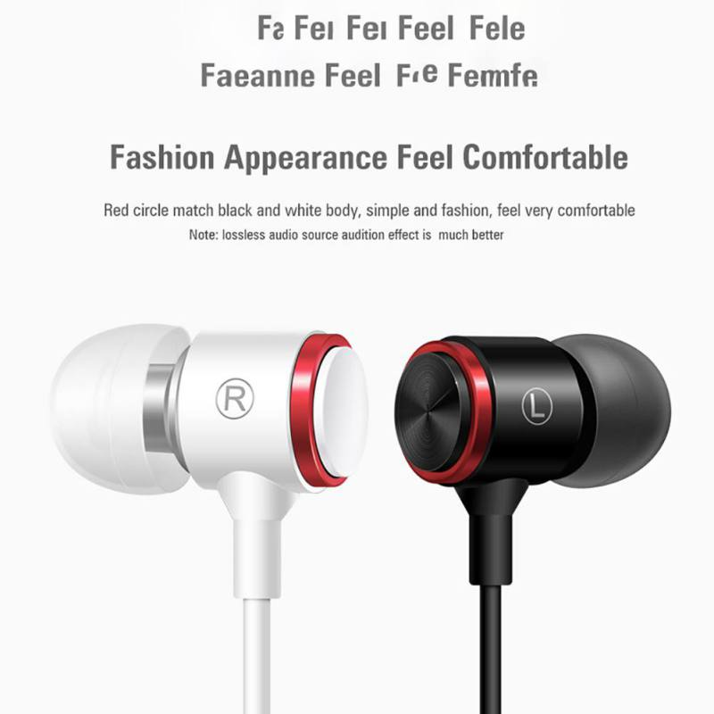 Beautiful Sports Waterproof Sweatproof Wired Earphones Metal Subwoofer Headset Wire Control Earplugs For Xiaomi Samsung Huawei Pc Laptop Fixing Prices According To Quality Of Products