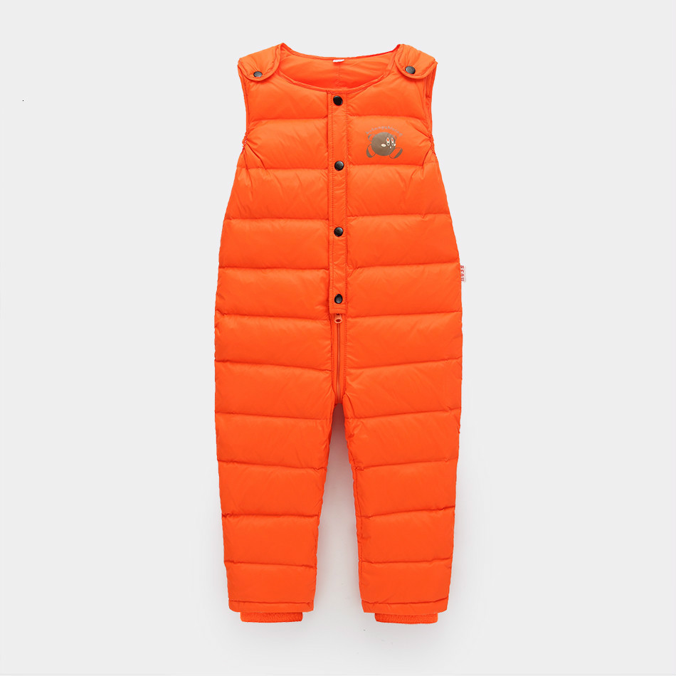 цена на 2018 winter warm leggings girl pants 2-5 years old kids leggings for boys clothes down jumpsuit fashion children snowsuit