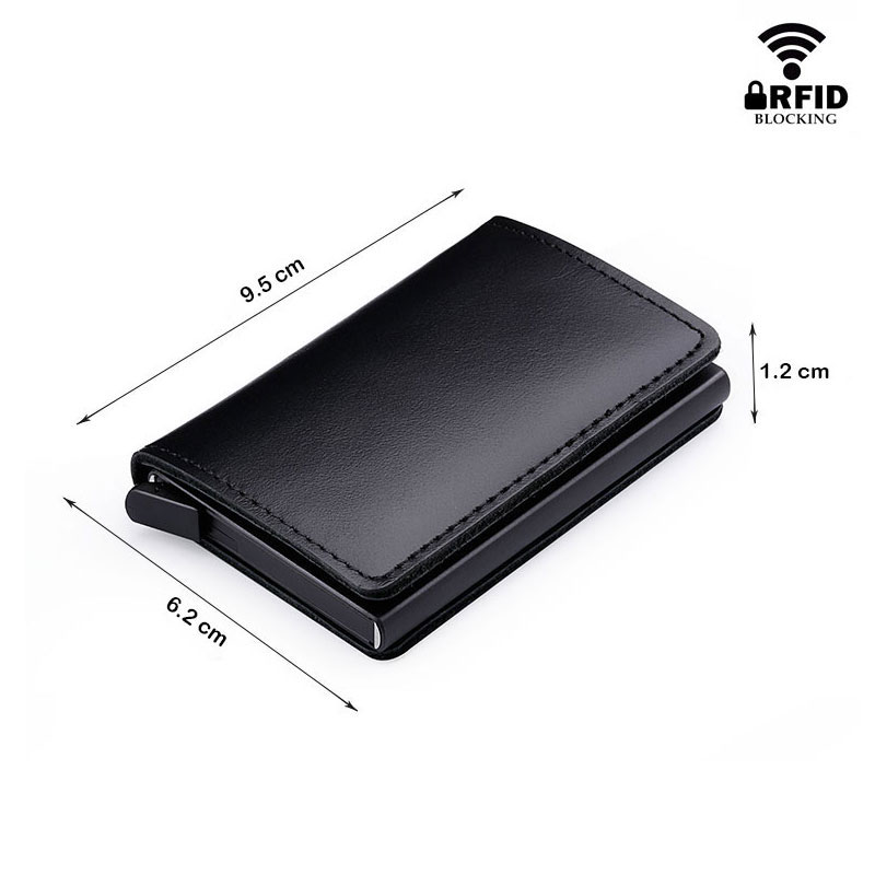 2 RFID Blocking Wallet Aluminum Identity Protection Credit Card Case