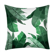 High Quality Tropical Plant Decorative Print Cactus Monstera pillow Cover Polyester Throw Pillow Home Decorative Pillowcase L*5(China)