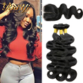 Peruvian virgin Hair Body Wave with Lace Closure Grade 7A unprocessed virgin hair with closure 4*4 Middle/Free Part Closure 40g