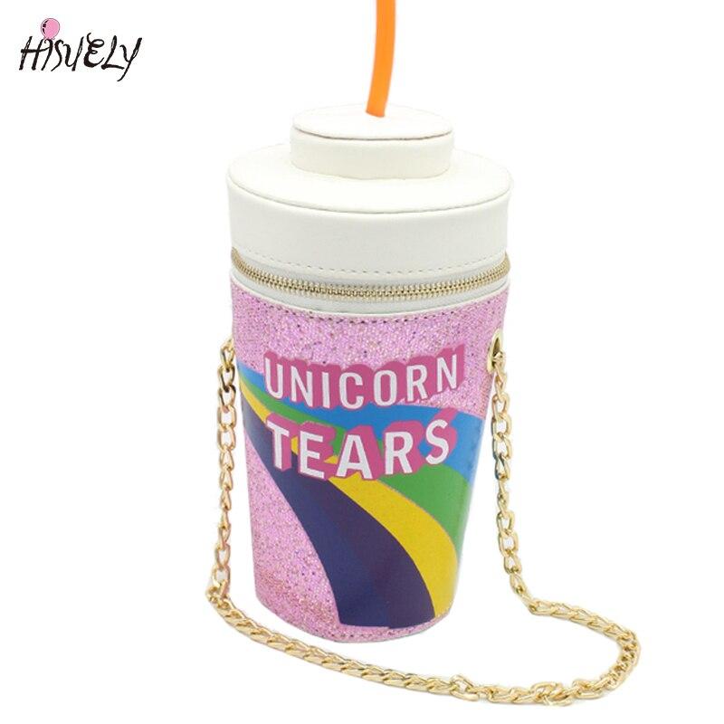 2018 New Fashion design personalized drink soda bottles modeling Skinny Dip Unicorn Tears Novelty Bag Shoulder Bag Handbag