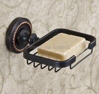 Accessorio per il bagno Olio di Bronzo Lucidato A Parete Sapone Basket Nero Piatto di Sapone Del Supporto Wba216