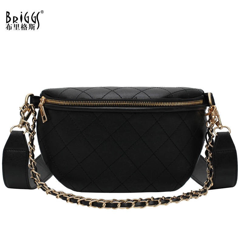 BRIGGS Chains Women Bags Designer Waist Bag Fanny Packs Lady's Belt Bags Women's Famous Brand Chest Handbag Shoulder Bag Purse