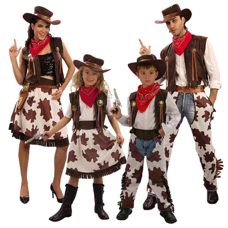 Objective Umorden Purim Carnival Party Halloween Costumes Child Kids Western Cowboy Costume Cowgirl Cosplay For Boy Girl Home