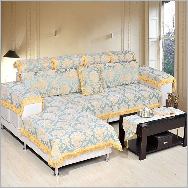 Europe Four Seasons Sofa Cover New Style Non Slip Fashion Sofa Cushion  Fabric Sofa Mats Home