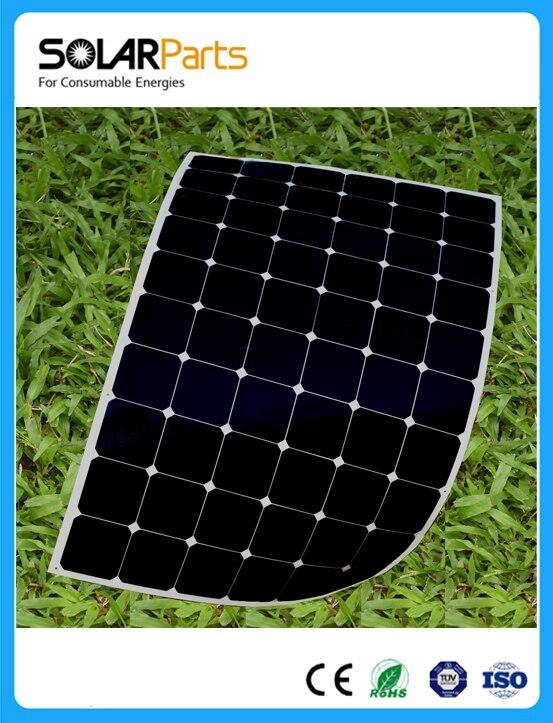 180W  2pcs ultra-light flexible 12V solar panels MONO solar modules for RV/BOAT/HOME solar panel junction box  MC4 connector