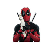 1pcs Anime Super Heros Deadpool Patch for clothing iron on patches Diy child boys T-shirt thermal transfer sticker badges(China)