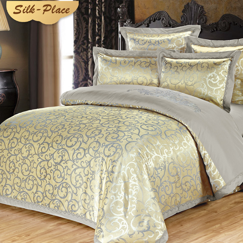 SILK PLACE Bedding Set Fashion Luxury Home Textile Duvet Cover Linen Sheet Soft Comfortable Russian Family Double Europe Size