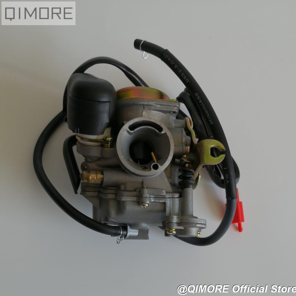 US $23 2 15% OFF|CVK 20mm Performance Carburetor for 4 stroke Scooter Moped  ATV 139QMB GY6 50 60 GY6 80 GY6 100 KYMCO GP110 VP110 LAB4 Agility-in