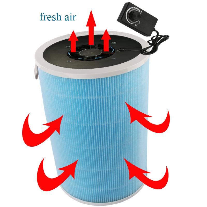 Xiaomi Air Purifier Homemade DIY Air Cleaner HEPA Filter Remove PM2 5 Smoke Odor Dust Formaldehyde