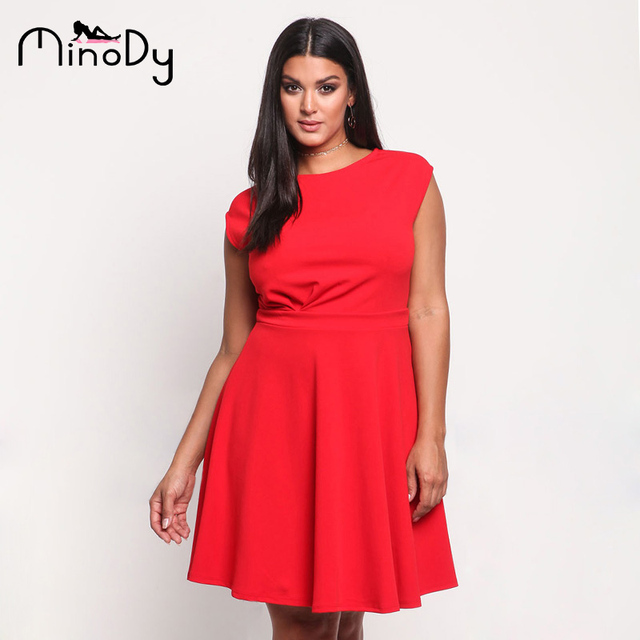 c380ca44f1a5 Купить Платья | Minody Women Plus Size Sleeveless Dress Summer ...