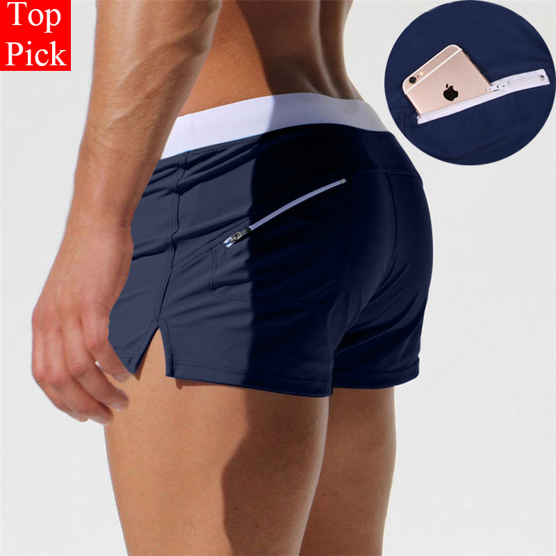 TOPPICK Swimwear Men Swimsuit Sexy Swimming Trunks Mens Swim Briefs Beach Shorts Mayo