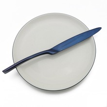 JANKNG 5Pcs/Set Blue Flatware Set Stainless Steel Dinnerware Tableware Steak Knife Fork Spoon Dinner Food Rainbow Cutlery Set