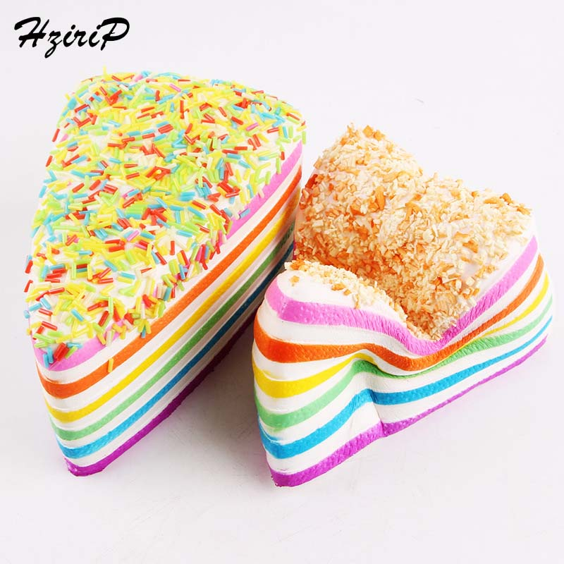 HziriP New Kids Kitchen Toys Food Rainbow Cake Decorating Squishy Ctue Collectibles Kids Pretend Play Anti-pressure Toy Gifts