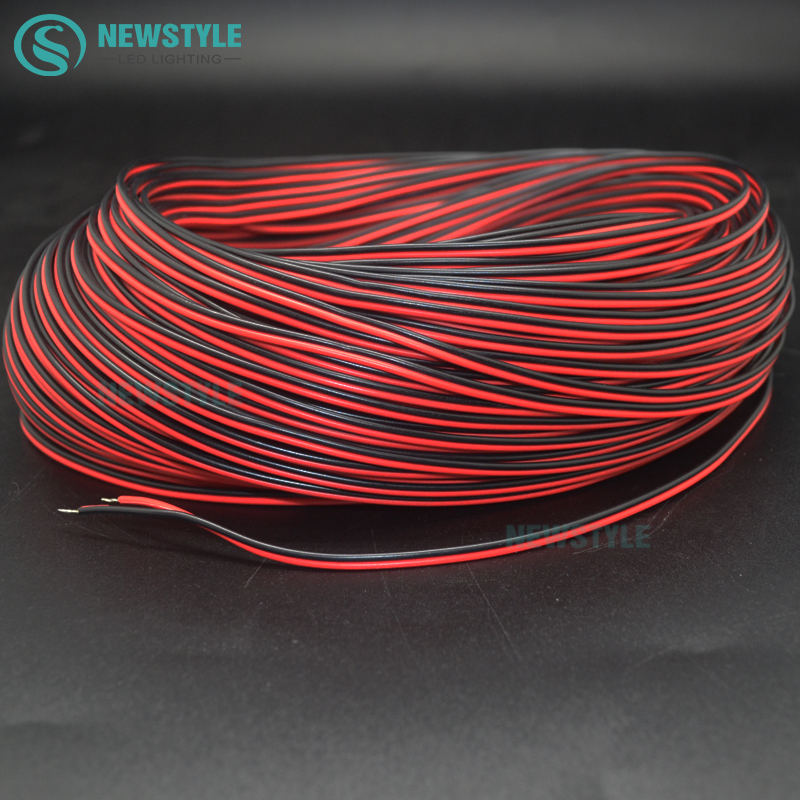 10m 20m/lot 2 Pin 20AWG 2 Channels 5730 5050 3528 LED Strip Light Wire Extend  Cable Cord Connector DE