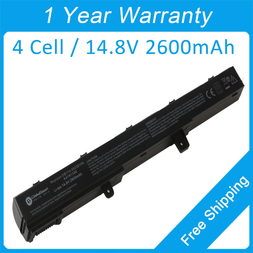 New 4 cell 2600mah laptop battery for asus F551MAV A41 X451 X551 D550 X451C X551C A31N1319 YU12008-<font><b>13007D</b></font> 0B110-00250100 image