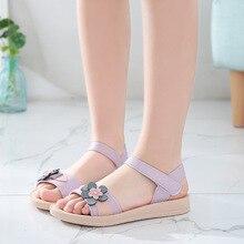 Girls sandals 2019 new beach shoes summer han edition childr
