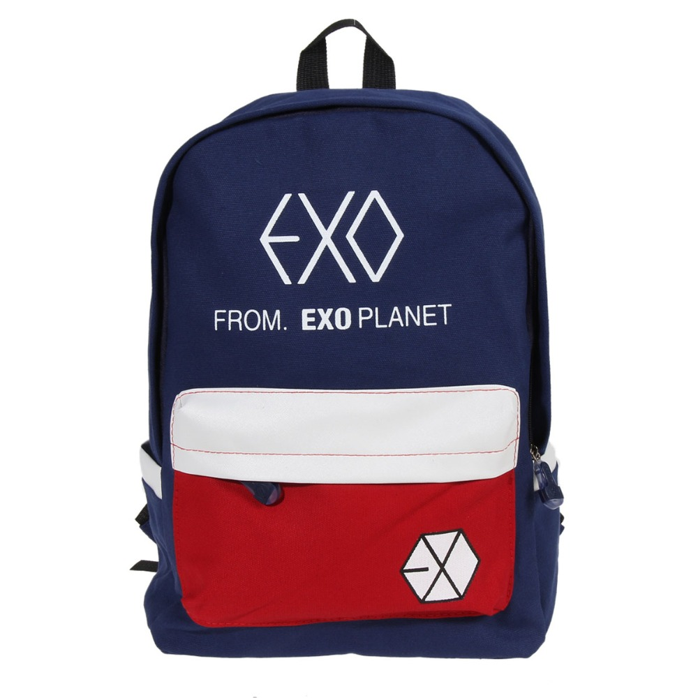 Women's Men School Bags Canvas Backpacks for Teenager Girl boy Casual Travel EXO Bags Mochila School Book Bags Laptop Bag msmo 2017 new kpop exo canvas backpack sacks women men student school bags for girl boy casual travel exo bags