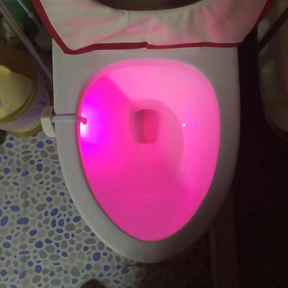 8 расцветок светодиодный ночной Светильник автоматический PIR датчик движения тела Сенсор Ванная комната туалет ночник сиденье lamparas лампы для 3xaaa Батарея