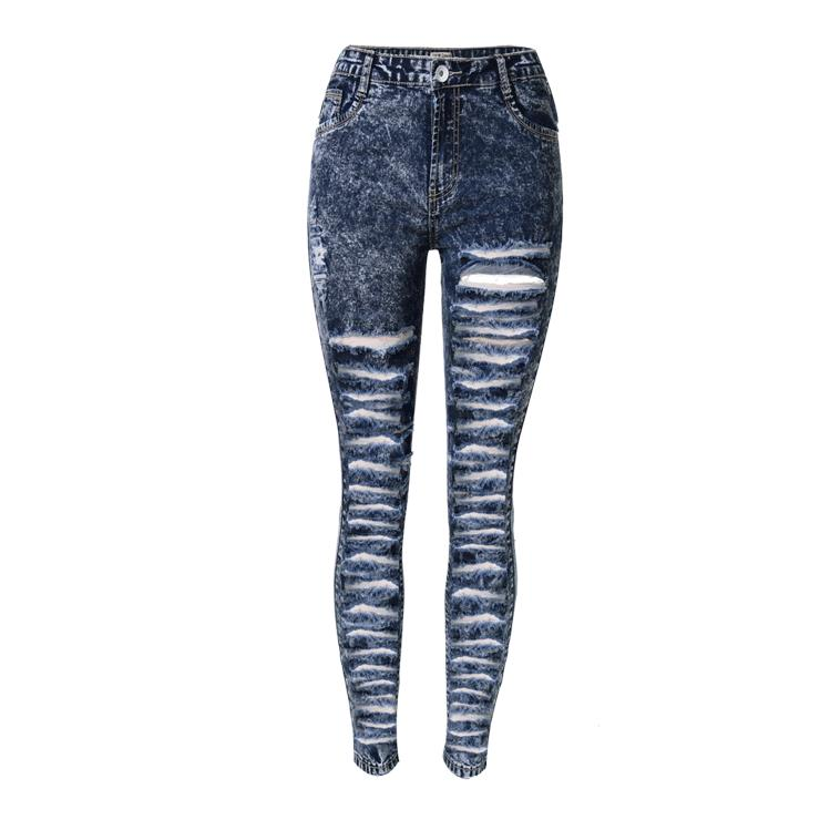Skinny Jeans Woman Ripped Pencil Long Pants Denim Women's Clothing European And American Style Sexy Jeans Fashion Women jeans woman new real 2017 spring and summer european american style fashion lace pants denim trousers pencil feet free shipping