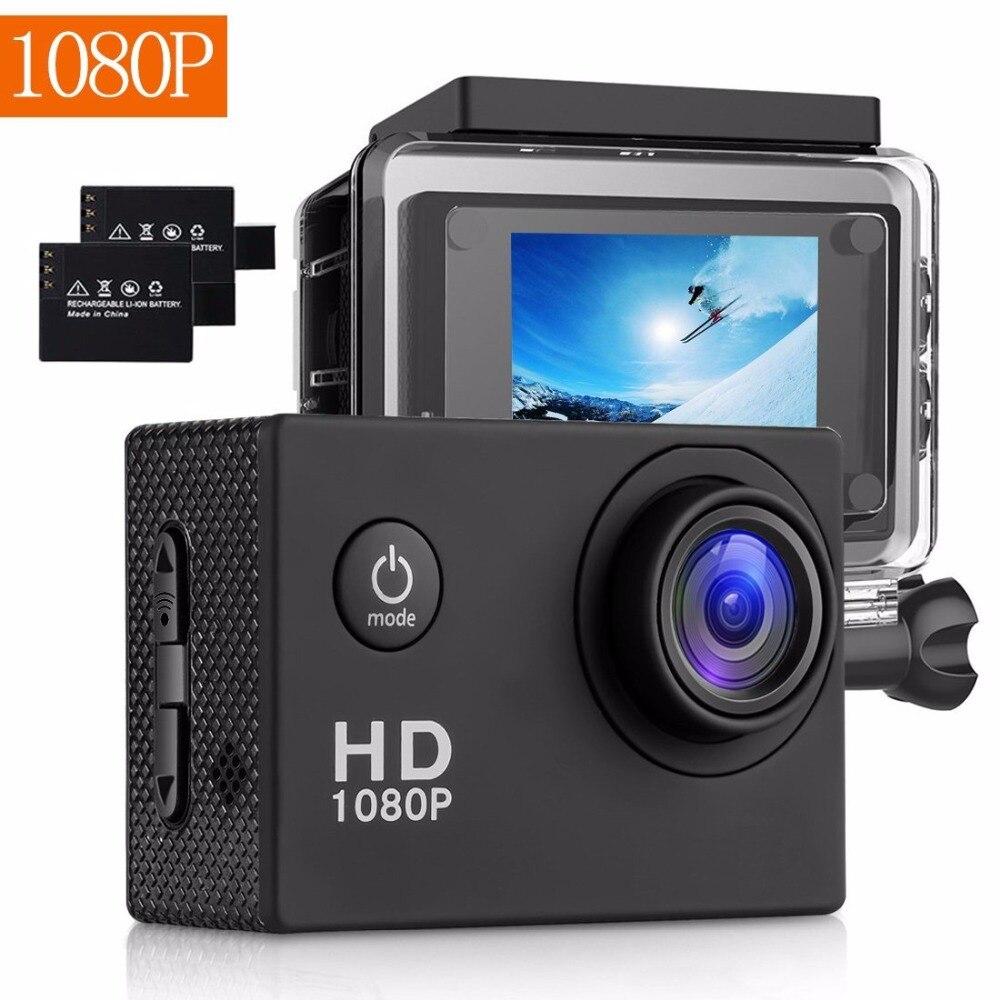 Galleria fotografica BUIEJDOG 2.0' Screen 1080P 30fps Action Camera Pro Wifi Action Cam Full hd Underwater Waterproof sport Camera remote Cam