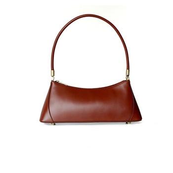 Designer Style Women Tote Bag Vintage High Quality Gorgerous Genuine Leather Office Lady Shoulder Bag Female Casual Ins Bolsa