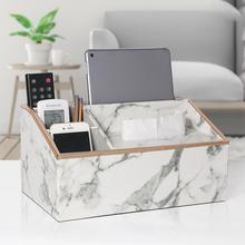 Креативный кожаный Многофункциональный поднос высокий простой Dali настольная коробка для хранения салфеток светильник роскошный белый мрамор