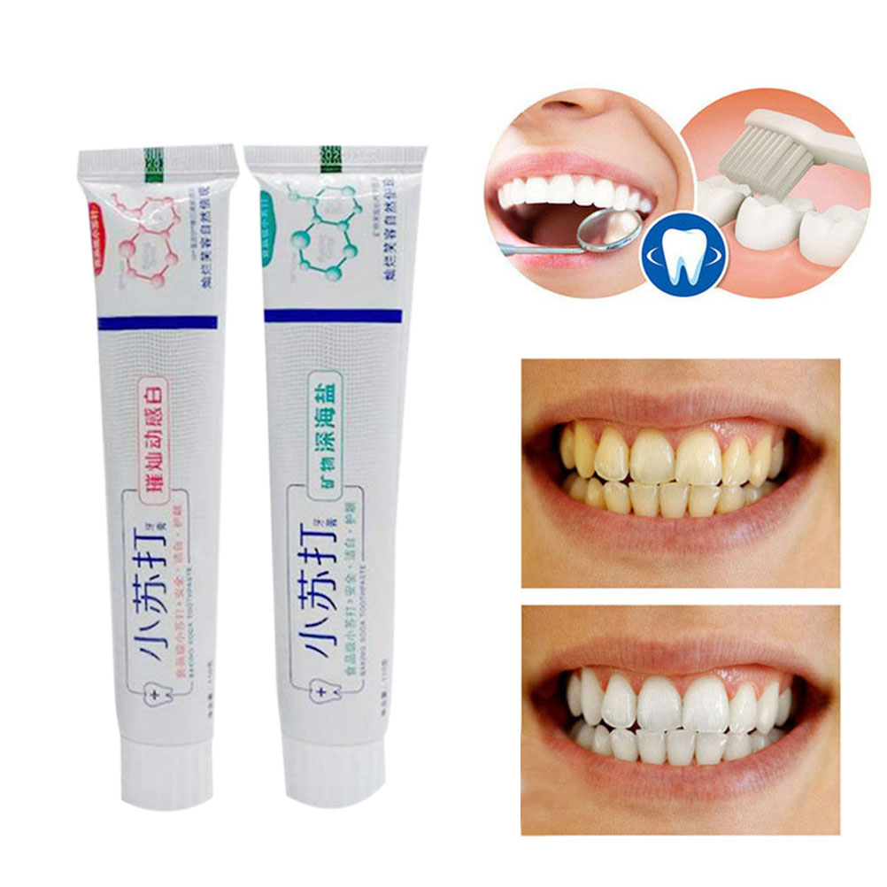 2Pcs Baking Soda Toothpaste Statin Removal Whitening Tartar Toothpaste Bright Dynamic Natural Anti-allergic Whitening Toothpaste(China)
