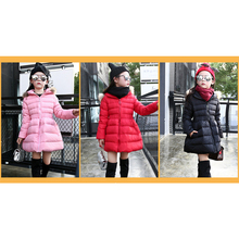 2016 Winter jacket down jacket for girl  collar waist fur collar long hooded coat