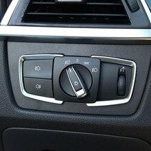 Interruptor de farol de carro, 2 pçs/set adesivo de ajuste de aro para bmw 3 4 séries x5 3gt f15 f30 f31 f32 f33 f34 f36
