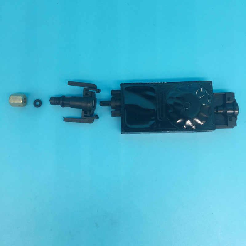 Untuk Epson DX5 TX800 XP600 Printhead Tinta UV Damper Adaptor untuk Mimaki JV33 JV5 Mutoh Galaxy Dumper Besar dengan Konektor tembaga Kacang